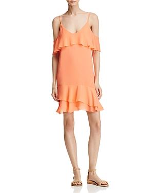 Parker Thatcher Cold-Shoulder Silk Dress