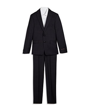 Michael Kors Boys Windowpane Plaid Wool Suit  Big Kid