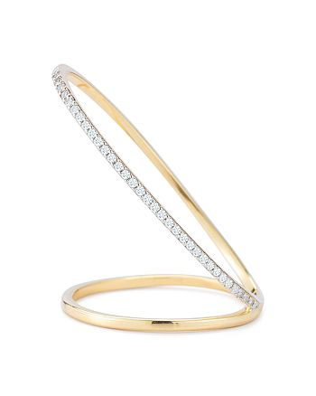 MATEO - 14K Yellow Gold Diamond Diagonal Slash Bar Ring
