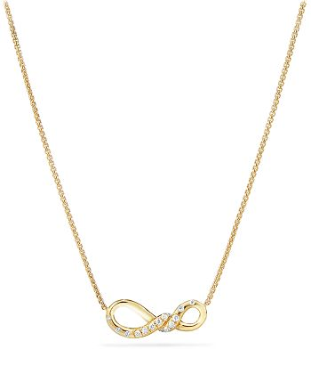 David Yurman - Continuance Small Pendant Necklace with Diamonds in 18K Gold