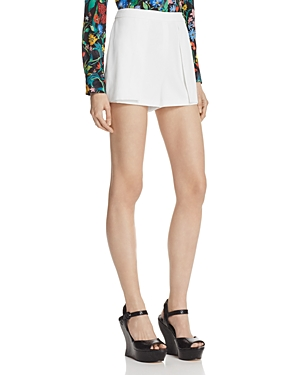 Alice + Olivia Larissa Open-Pleat Shorts