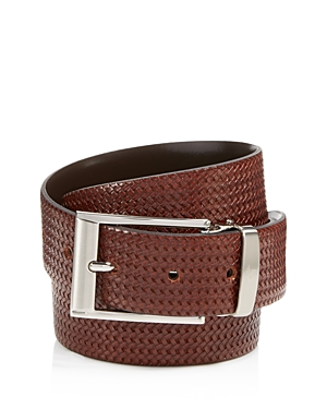 Canali Reversible Braided Leather Belt