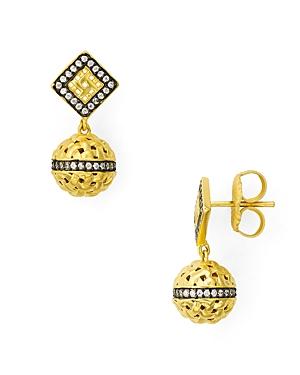 Freida Rothman Lattice Sphere Drop Earrings