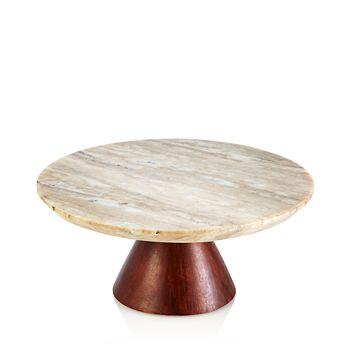 Hudson Park Collection - Cake Stand with Marble Top - 100% Exclusive