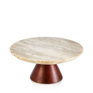 Hudson Park Cake Stand with Marble Top - 100% Exclusive