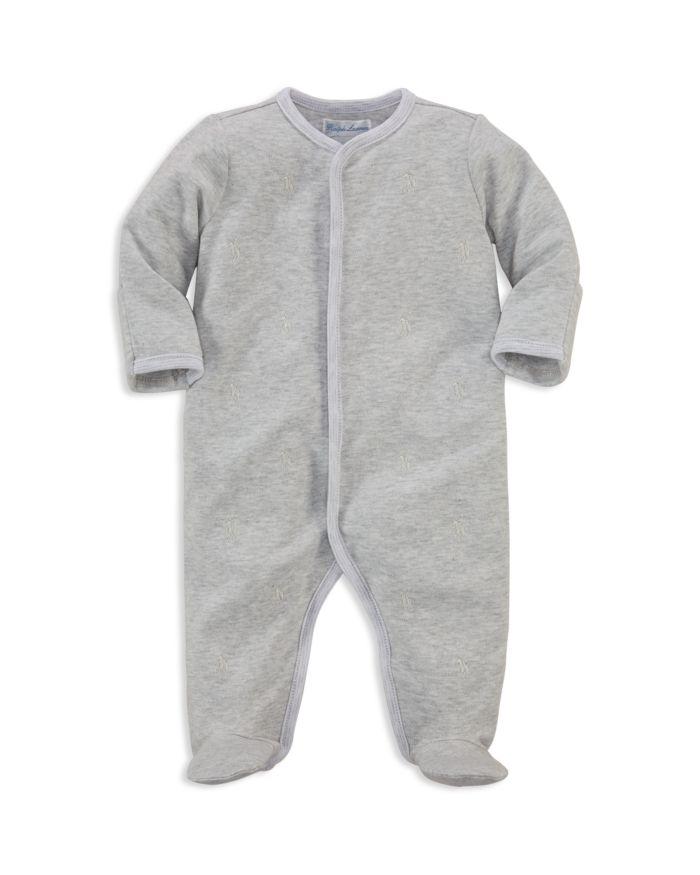 Ralph Lauren Unisex Embroidered Footie - Baby   | Bloomingdale's