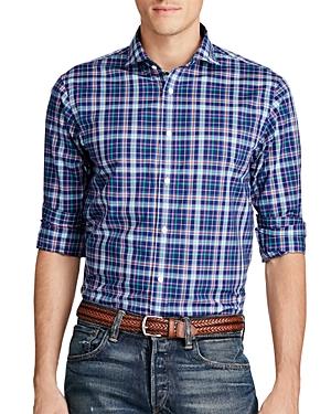 Polo Ralph Lauren Plaid Cotton Poplin Classic Fit Shirt