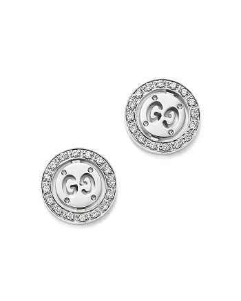 c1454c542f8 Gucci 18K White Gold Icon Twirl Stud Earrings with Diamonds ...