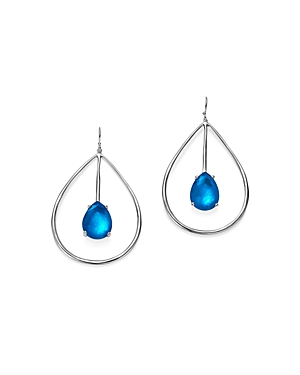 Ippolita Sterling Silver Rock Candy Wonderland Large Pear Shape Drop Earrings in Ultramarine