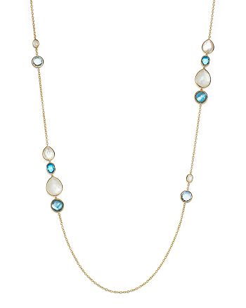 IPPOLITA - 18K Yellow Gold Rock Candy® Grouped Gelato Station Necklace in Raindrop, 37""