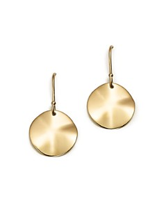 IPPOLITA - 18K Gold Wavy Disc Earrings