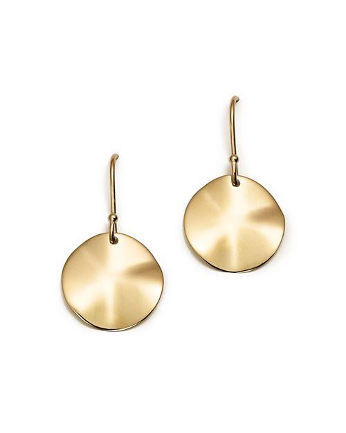 IPPOLITA - 18K Gold Wavy Disc Earrings
