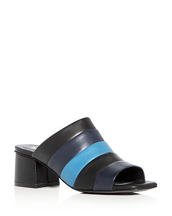 Opening Ceremony - Women's Ellenha Color Block Mid Heel Slide Sandals
