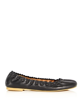 42f53b4a3 ... See by Chloé - Women's Jane Scalloped Ballet Flats. Quick View