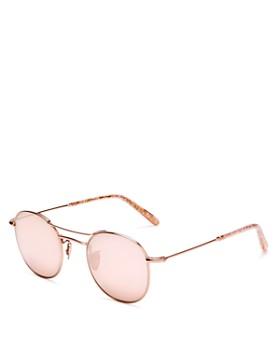 Krewe - Women's Orleans Mirrored Round Sunglasses, 48mm