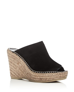 Andre Assous - Women's Cici Leather Espadrille Wedge Slide Sandals