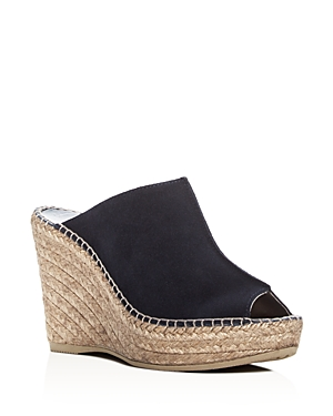 Andre Assous Cici Espadrille Wedge Slide Sandals