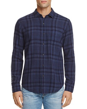 Rails - Connor Indigo Plaid Slim Fit Button-Down Shirt