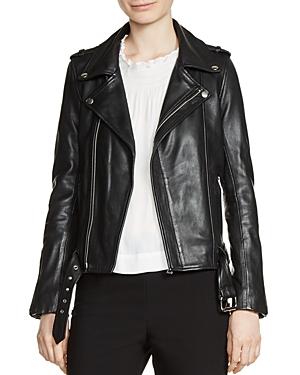 Maje Bocelui Leather Moto Jacket