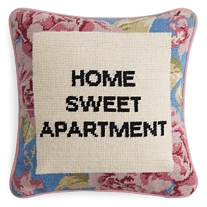 Sparrow & Wren Home Sweet Apartment Needlepoint Decorative Pillow, 12 x 12 - 100% Exclusive