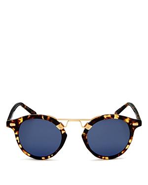 Unisex St. Louis 24K Polarized Round Sunglasses