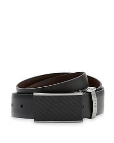 Ted Baker - Reversible Belt with Carbon Fibre Buckle