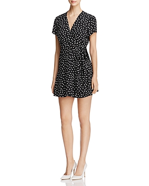 Yumi Kim Kennedy Heart Print Mini Wrap Dress