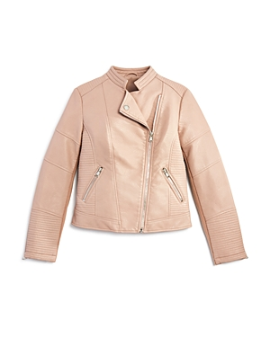 Aqua Girls' Faux Leather Jacket, Big Kid - 100% Exclusive