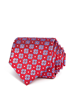 The Men's Store at Bloomingdale's Washed Medium Quad Flower Dot Skinny Tie - 100% Exclusive