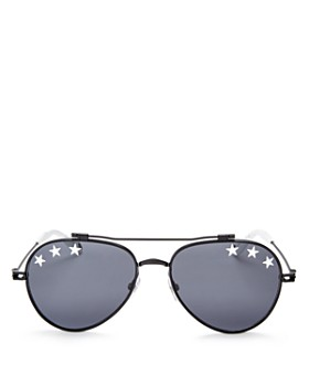 Givenchy - Women's Embellished Brow Bar Aviator Sunglasses, 58mm