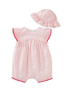 Absorba Infant Girls' Floral Romper & Hat Set - Sizes 0-9 Months