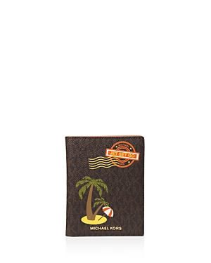 Michael Michael Kors Illustrations Palm Tree Passport Case