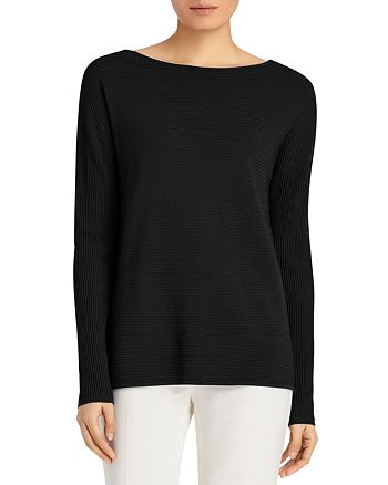 Lafayette 148 New York - Ribbed V-Back Sweater