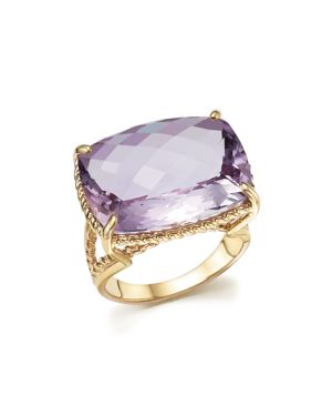 Rose Amethyst Statement Ring in 14K Yellow Gold - 100% Exclusive