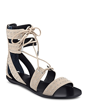 Kendall and Kylie Fabia Studded Ankle Tie Sandals