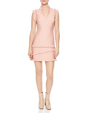 Sandro Girly Ruffled Mini Dress
