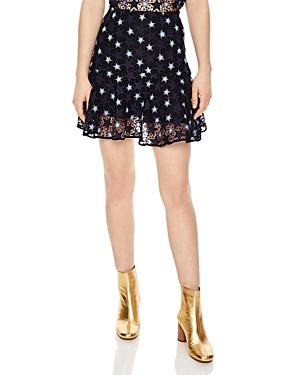 Sandro Cannes Lace Mini Skirt