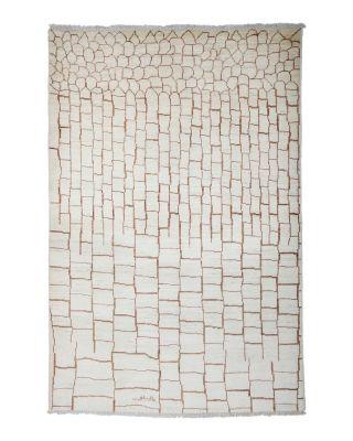 "Moroccan Area Rug - Beige Multi Brick, 5'1"" x 7'8"""