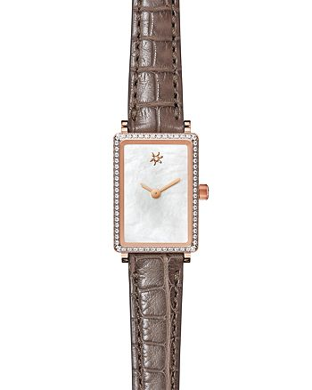 Gomelsky - The Shirley Fromer Strap Watch with Diamonds, 32mm x 26mm