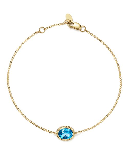 Bloomingdale's - Blue Topaz Oval Bracelet in 14K Yellow Gold - 100% Exclusive