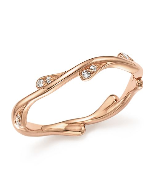 Bloomingdale's - Diamond Stacking Ring in 14K Rose Gold, .10 ct. t.w. - 100% Exclusive