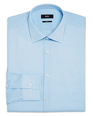 Boss Jenno Micro Textured Solid Slim Fit Dress Shirt