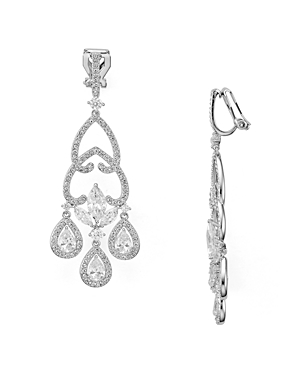 Nadri Pave Chandelier Clip-On Drop Earrings