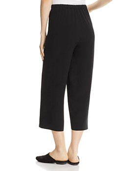 Eileen Fisher - Straight Crop Silk Pants, Regular & Petite