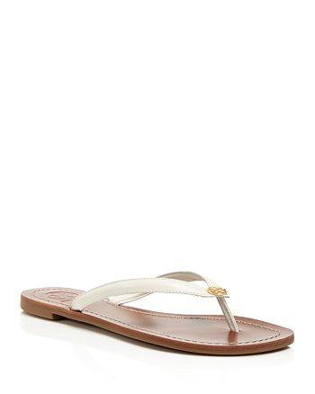 6403d1fffd30 Tory Burch - Women s Terra Leather Flip-Flops