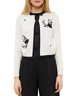 Ted Baker Rose Embroidered Cardigan