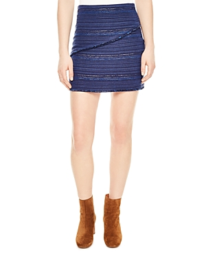 Sandro Dakota Striped Mini Skirt