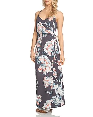 1.state Floral Print Maxi Wrap Dress