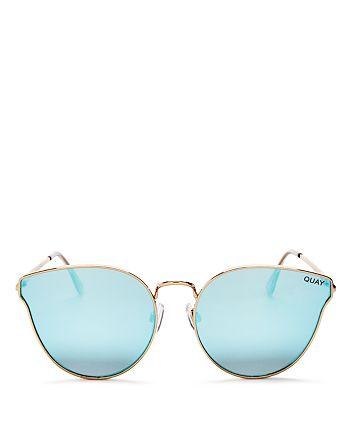 Quay - Women's All My Love Mirrored Cat Eye Sunglasses, 55mm