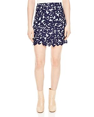 Sandro Loomy Lace Mini Skirt